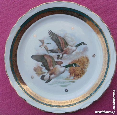 Assiette décorative canards sauvages - Limoges LUN 10 Montauban (82)