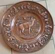 Assiette décorative cuivre - Bon état