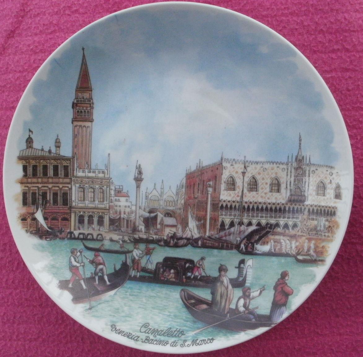 Assiette décorative Tableau de CANALETTO Bacino di San MArco 10 Montauban (82)