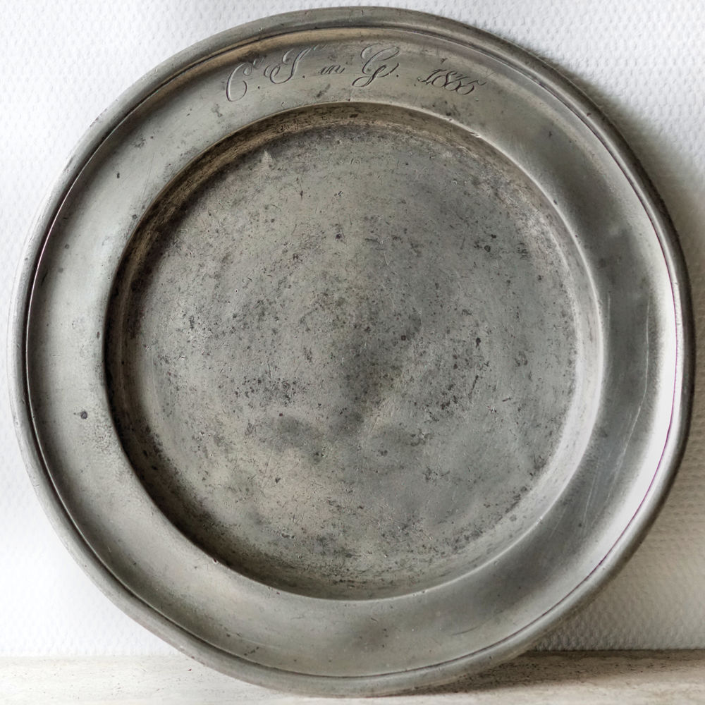 Assiette étain 1835 15 Chaumontel (95)