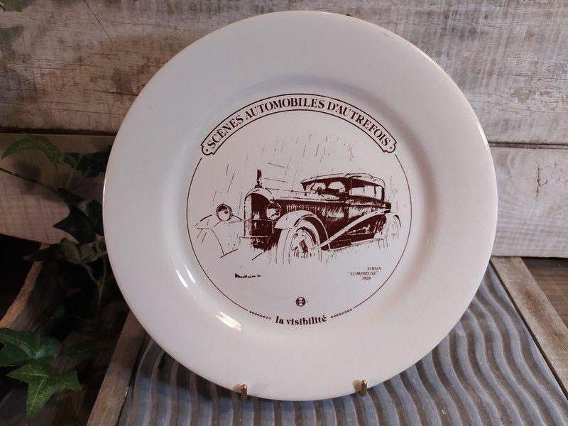Assiette Faïence Gien Automobile Voisin 1928  20 Loches (37)