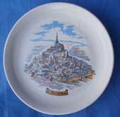 Assiette Mont ST Michel Porcelaine CASTELROUX 4 Montauban (82)