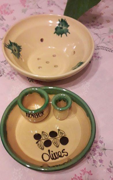 Assiette Olive/Passoire en Céramique 2 Sarcelles (95)