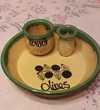 Assiette Olive/Passoire en Céramique Cuisine