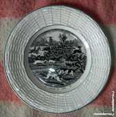 Assiette «parlante la chasse au cerf»digoin,france 10 Le Perray-en-Yvelines (78)