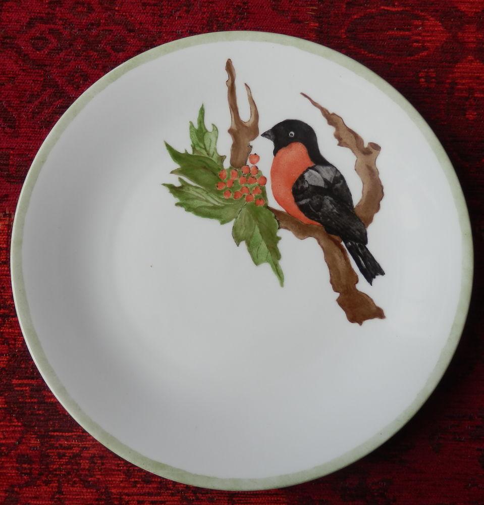 Assiette en porcelaine Allemande signée et datée. 4 Fleury-les-Aubrais (45)