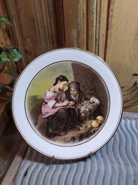 Assiette Porcelaine de Limoges Décor Murillo  25 Loches (37)
