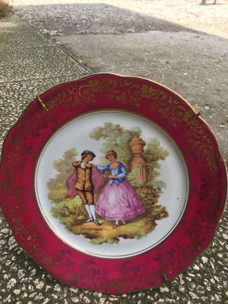 Assiette porcelaine de Limoges  20 Saint-Quentin-la-Tour (09)