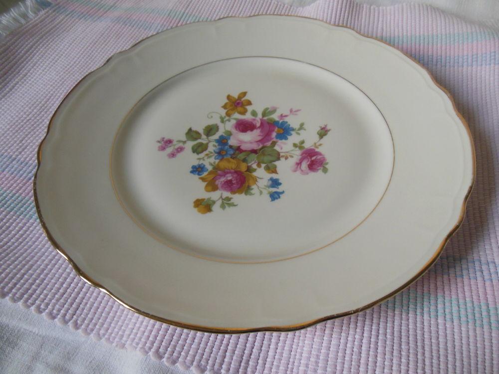 - assiette  Porcelaine Vierzon Fleurs  8 Vouzeron (18)