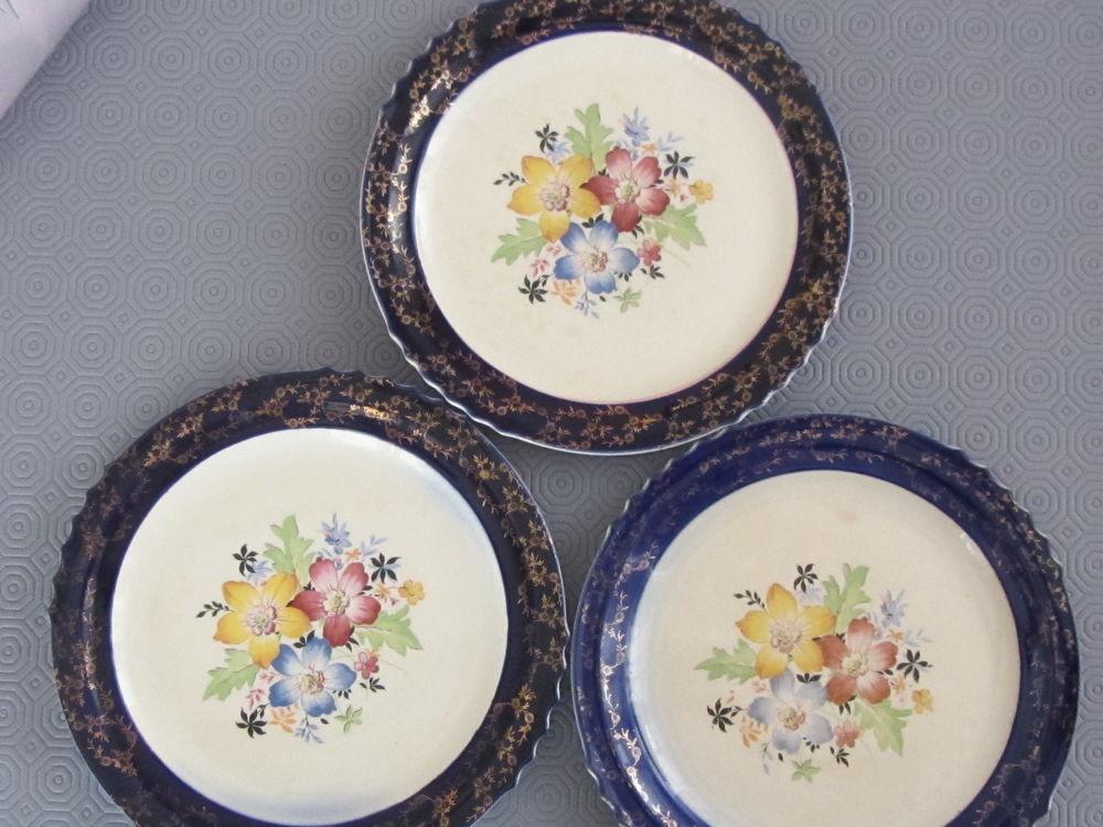 3 assiettes anciennes décoratives 45 Saint-Louis (68)