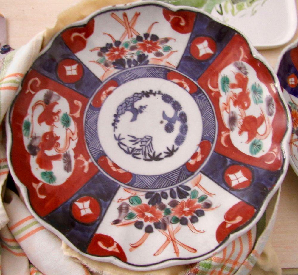 Assiettes anciennes en porcelaine IMARI 250 Le Cap D Agde (34)