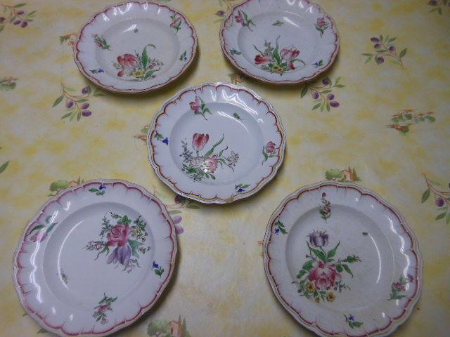 lot de 5 assiettes creuses faience Opaque de Lunéville pa52 20 Grézieu-la-Varenne (69)