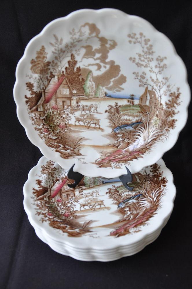 Assiettes creuses porcelaine Ridgway Staffordshire 20 Guilvinec (29)