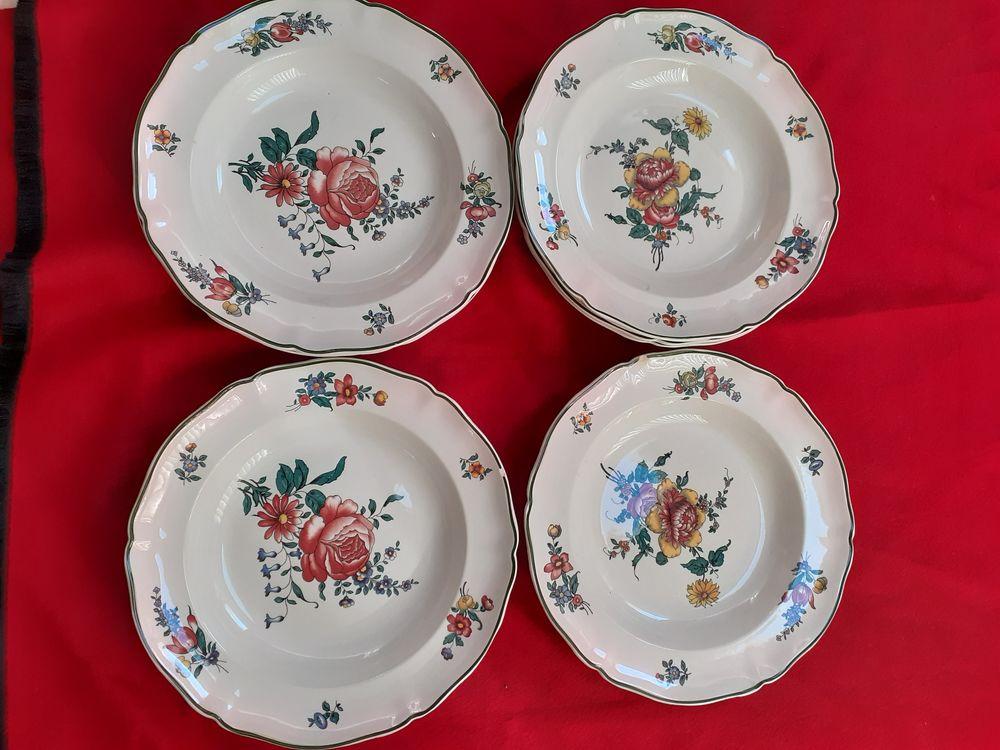 LOT 9 ASSIETTES CREUSES / VILLEROY & BOSCH / motif floral 85 Bormes-les-Mimosas (83)