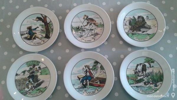 Lot de 6 assiettes Fables de La Fontaine Neuves. 30 Muret (31)