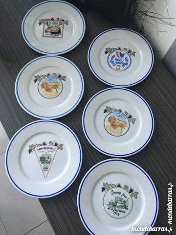 Lot 6 assiettes à fromages REVOL 5 Lys-lez-Lannoy (59)