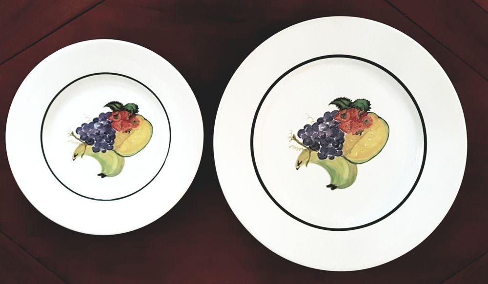 Assiettes plates et assiettes à dessert 25 Marignane (13)