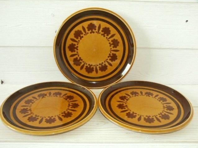 Lot 3 assiettes plates Ø24 céramique Boch vintage - BON ETAT 14 Mérignac (33)