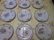 lot de 9 assiettes plates Opaque de Lunéville pa72