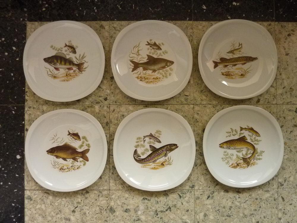 6 assiettes à poisson en porcelaine de Sologne 35 Tassin-la-Demi-Lune (69)