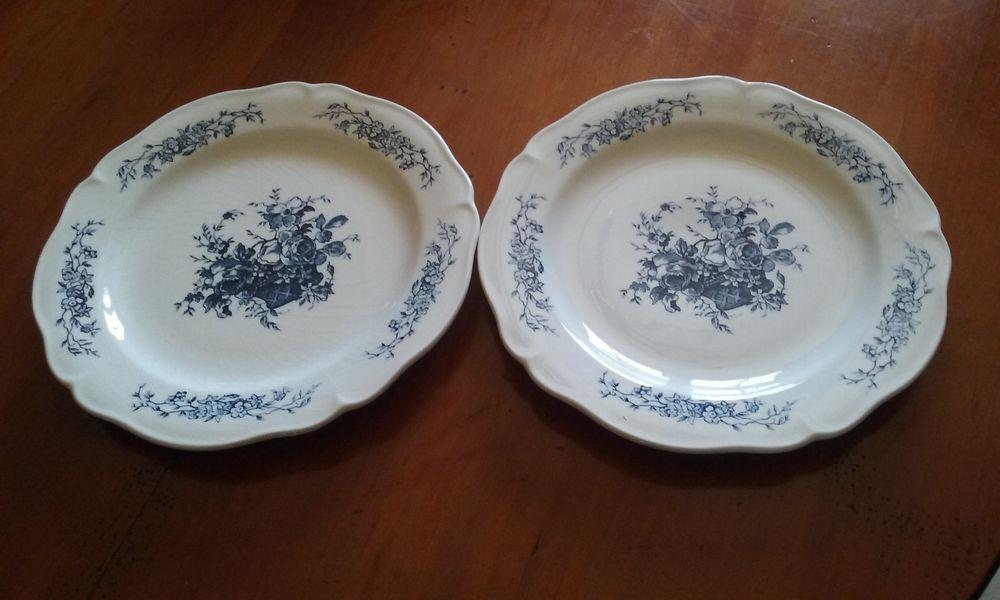 2 assiettes porcelaine de Gien diamètre 22 cm 19 Lésigny (77)