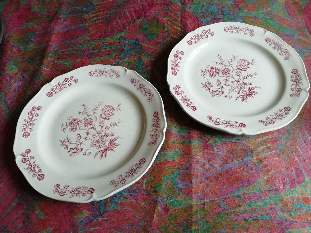2 assiettes en porcelaine de Gien diamètre 24,5 cm 24 Lésigny (77)