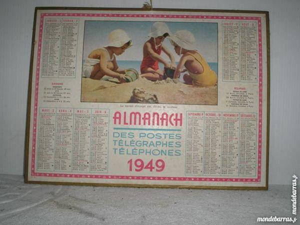 Authentique calendrier des postes 1949 15 Le Tremblay-sur-Mauldre (78)