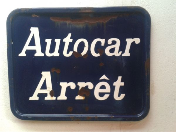 AUTHENTIQUE PLAQUE TRANSPORT - VINTAGE - COLLECTOR - 60ths 140 Cagnes-sur-Mer (06)