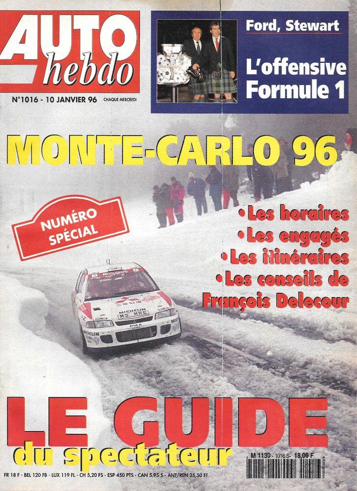 AUTO HEBDO n°1016 de 1996  Monte Carlo  HONDA Civic 1.6 VTi 2 Castelnau-sur-Gupie (47)