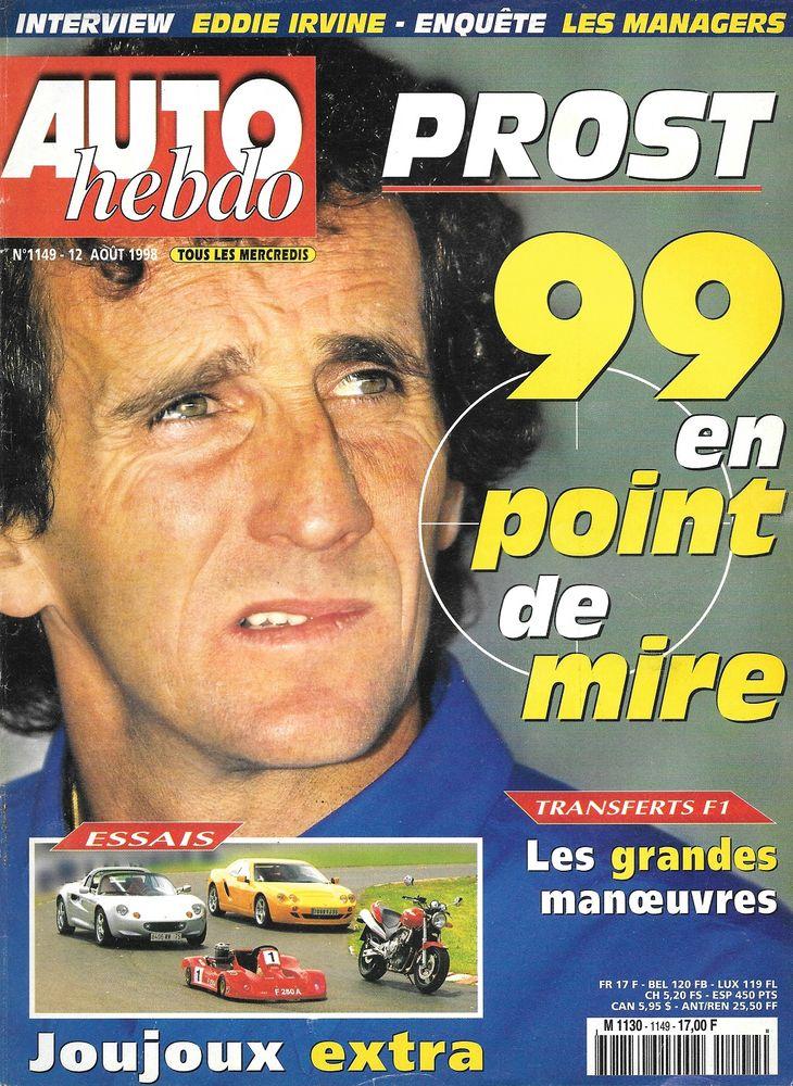 AUTO HEBDO n°1149 1998 LOTUS Elise HOMMELL Berlinette RS Bijoux et montres