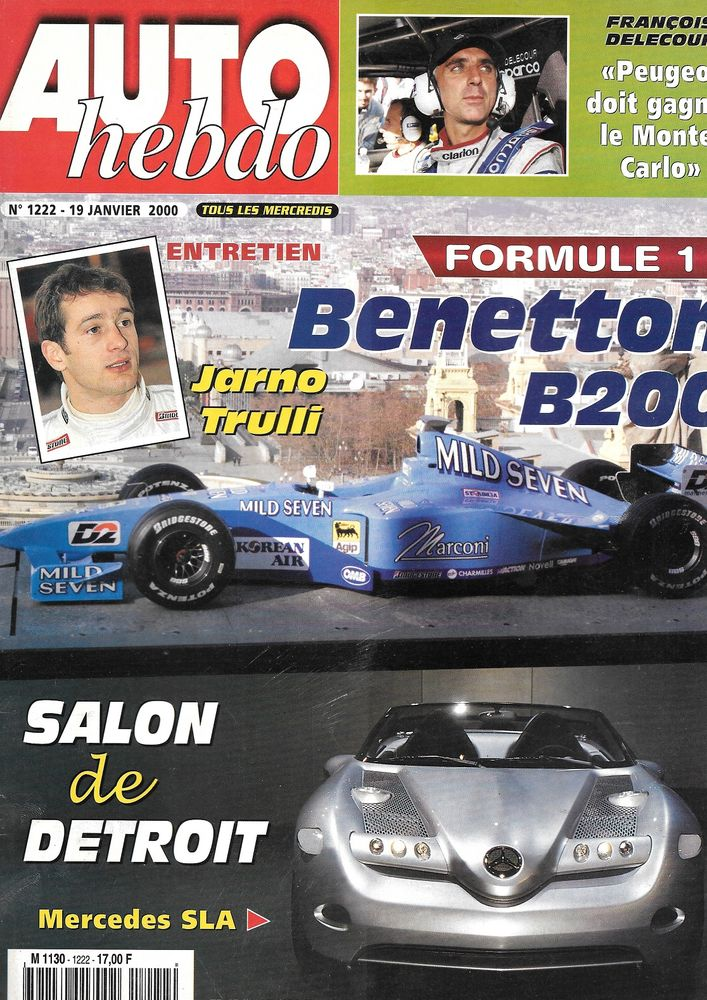 AUTO HEBDO n°1222 2000 Monte Carlo Dakar Salon de Detroit Livres et BD
