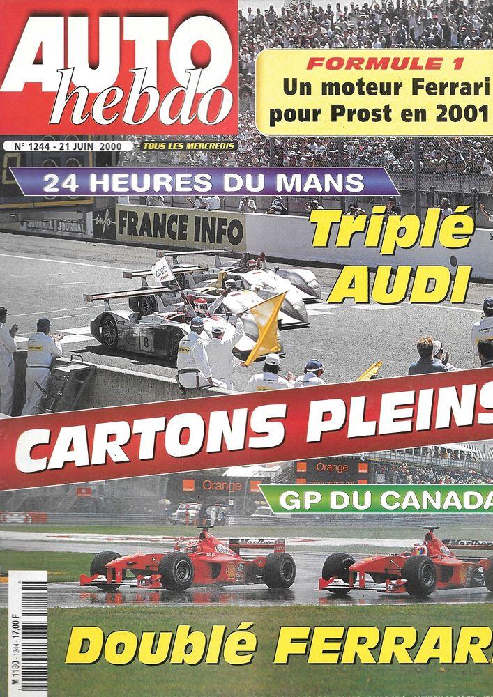 AUTO HEBDO n°1244 2000 24 Heures du Mans Salon de Turin Livres et BD