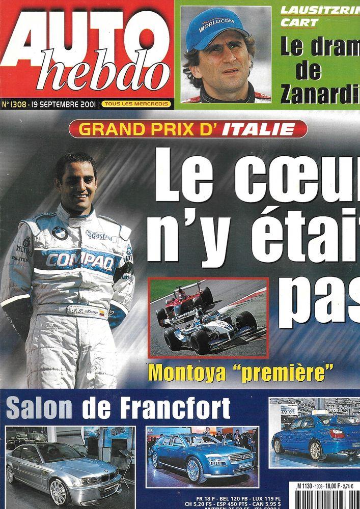AUTO HEBDO n°1308 2001  Salon de Francfort  GP d'Italie  2 Castelnau-sur-Gupie (47)