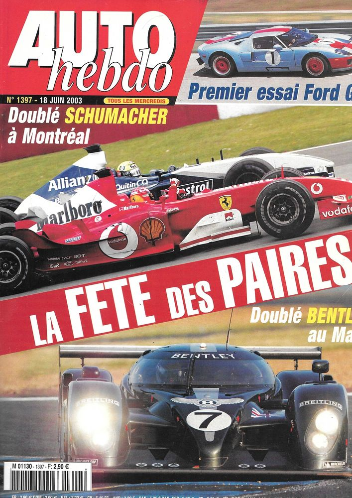 AUTO HEBDO n°1397 2003  FORD GT  24 Heures du Mans  2 Castelnau-sur-Gupie (47)