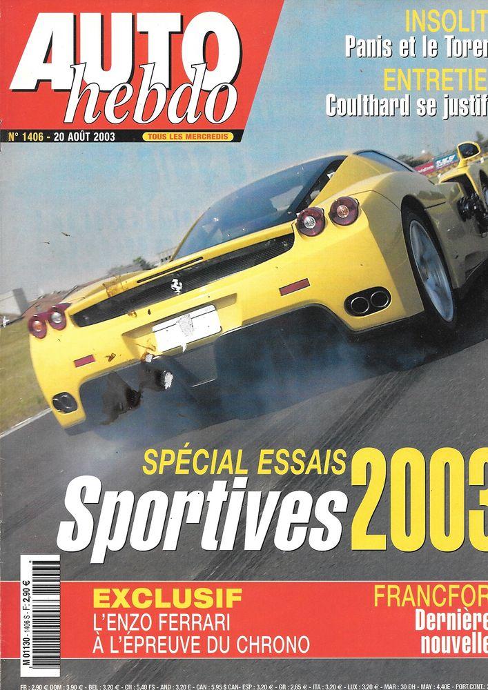 AUTO HEBDO n°1406 2003  Guide des sportives  FERRARI Enzo 2 Castelnau-sur-Gupie (47)