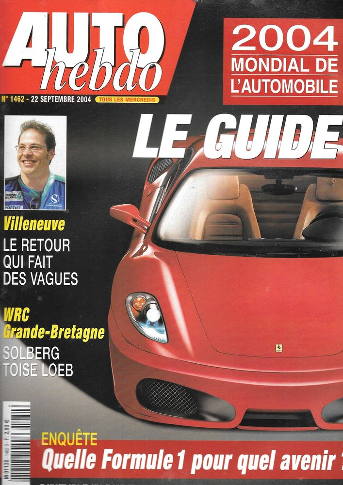 AUTO HEBDO n°1462 2004 Mondial Automobile Jacques VILLENEUVE Livres et BD