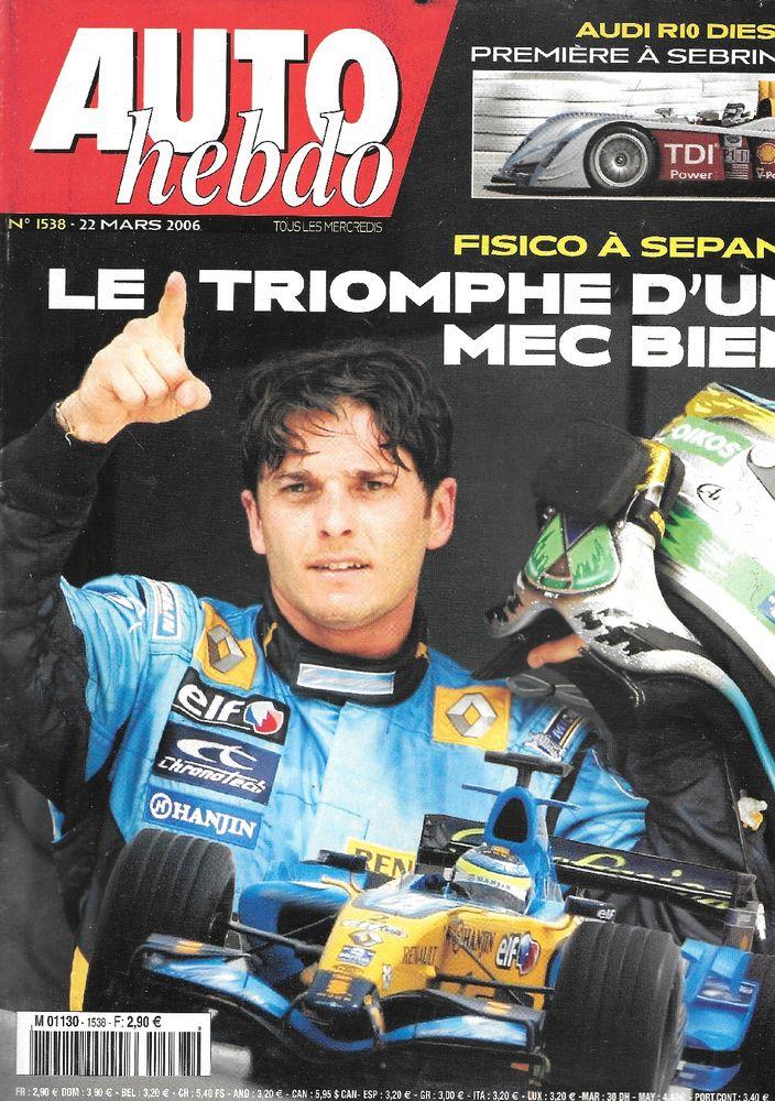 AUTO HEBDO n°1538 2006 GP de Malaisie Touring Cup Livres et BD
