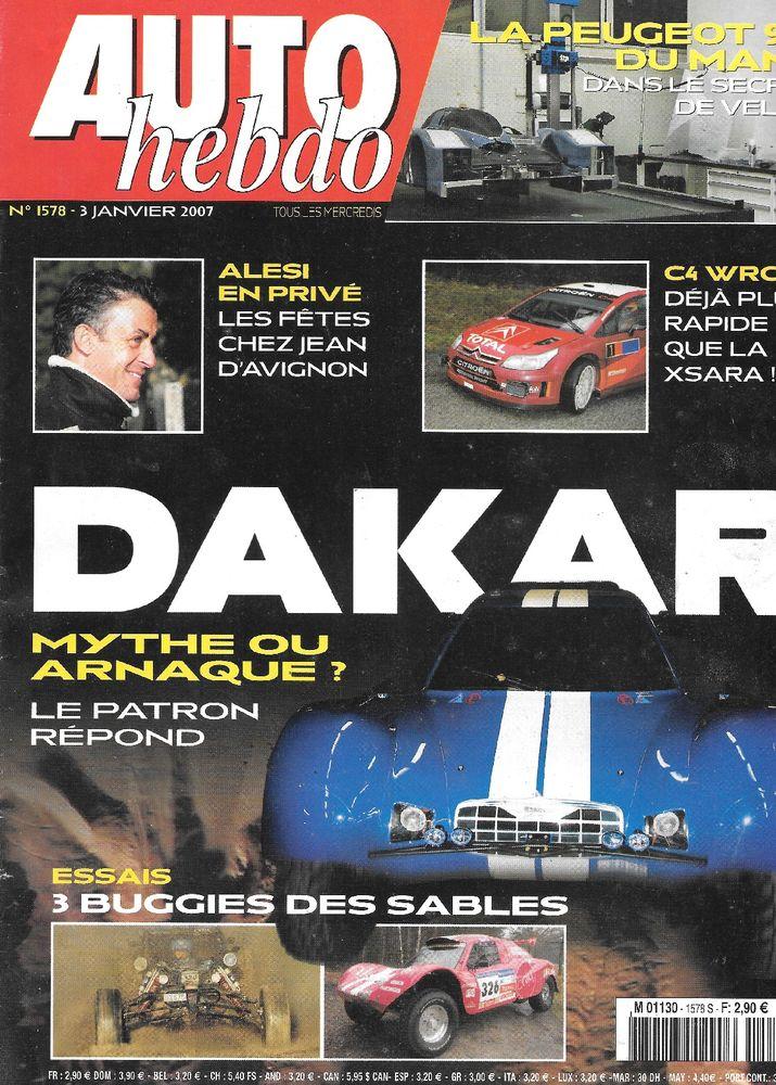 AUTO HEBDO n°1578 2007  MORGAN Aero  Jean ALESI  2 Castelnau-sur-Gupie (47)