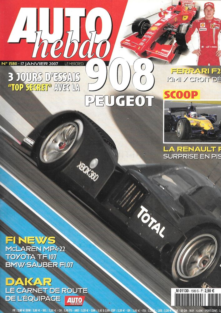 AUTO HEBDO n°1580 2007 PEUGEOT 207 Super 1600 Dakar Livres et BD