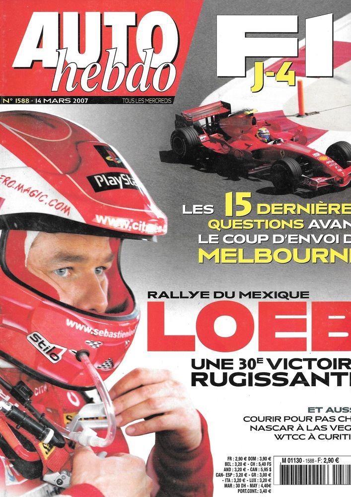 AUTO HEBDO n°1588 2007 Salon de Genève Rallye du Mexique Livres et BD