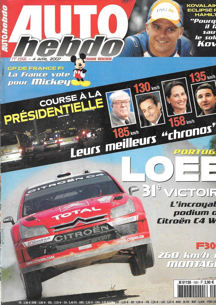 AUTO HEBDO n°1591 2007 MERCEDES C350 SUZUKI Swift Sport Livres et BD