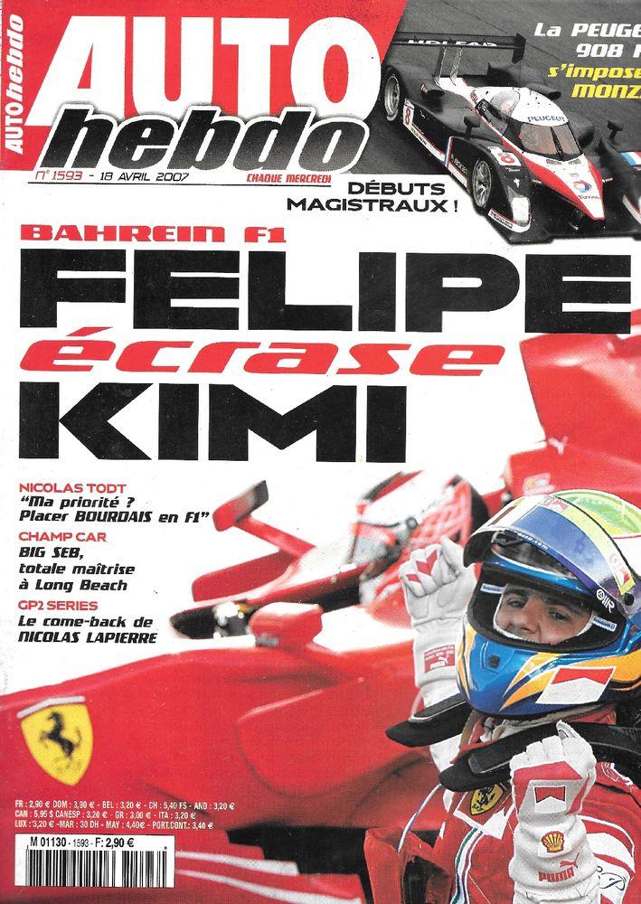 AUTO HEBDO n°1593 2007 RENAULT Mégane II Sport DCI Livres et BD