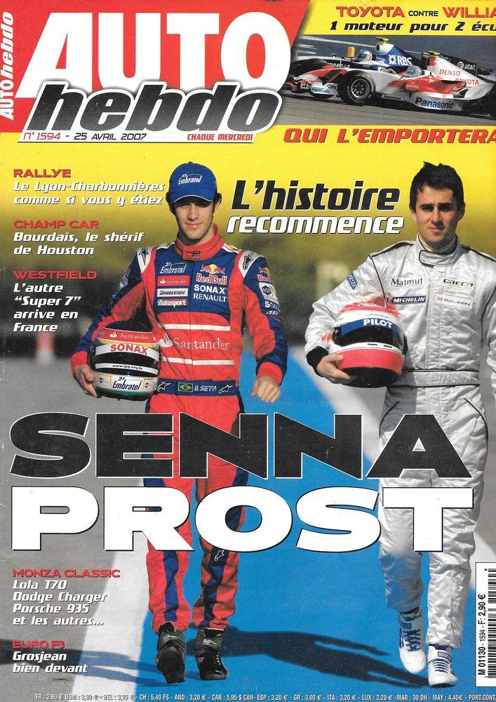 AUTO HEBDO n°1594 2007 WESTFIELD Sport 2000 Bruno SENNA Livres et BD