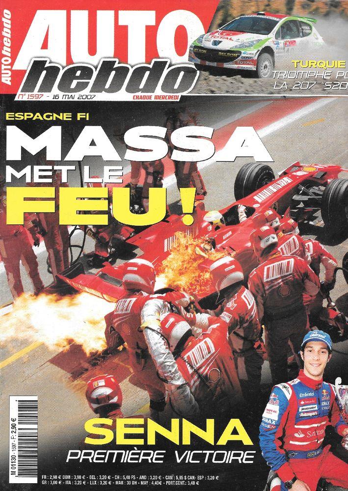 AUTO HEBDO n°1597 2007 GP d'Espagne Sébastien LOEB Livres et BD