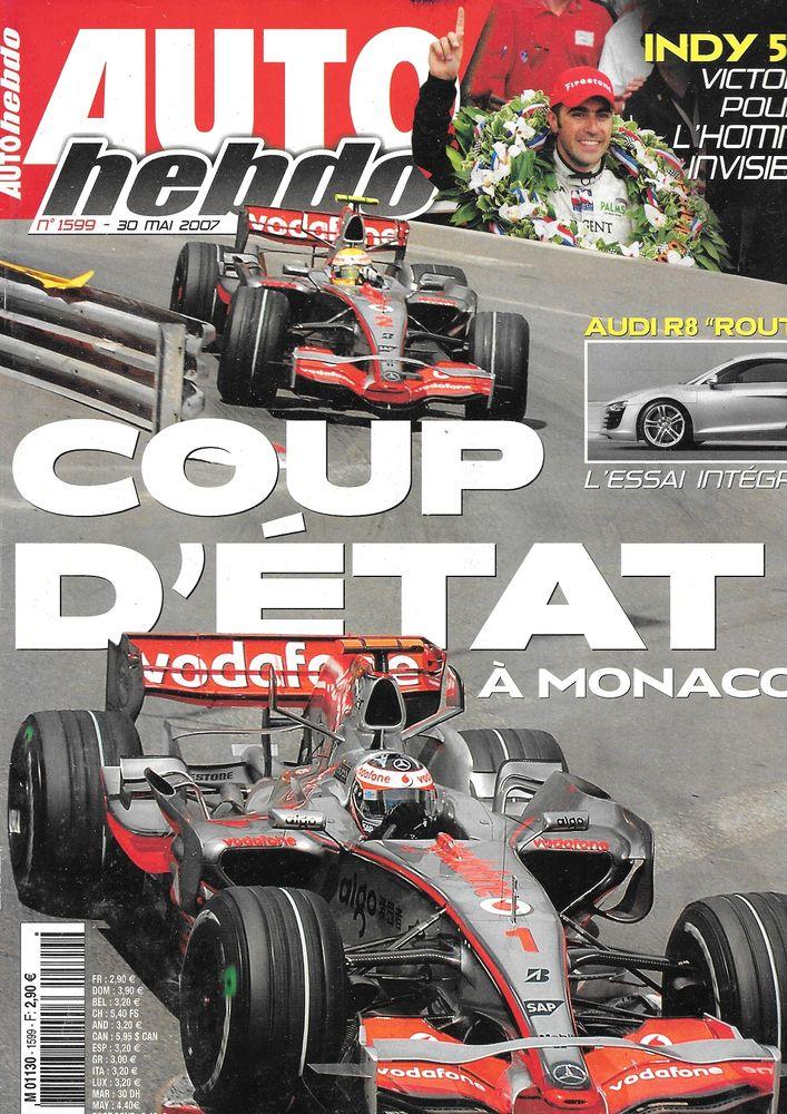 AUTO HEBDO n°1599 2007 AUDI R8 R-TRONIC GP de Monaco Livres et BD