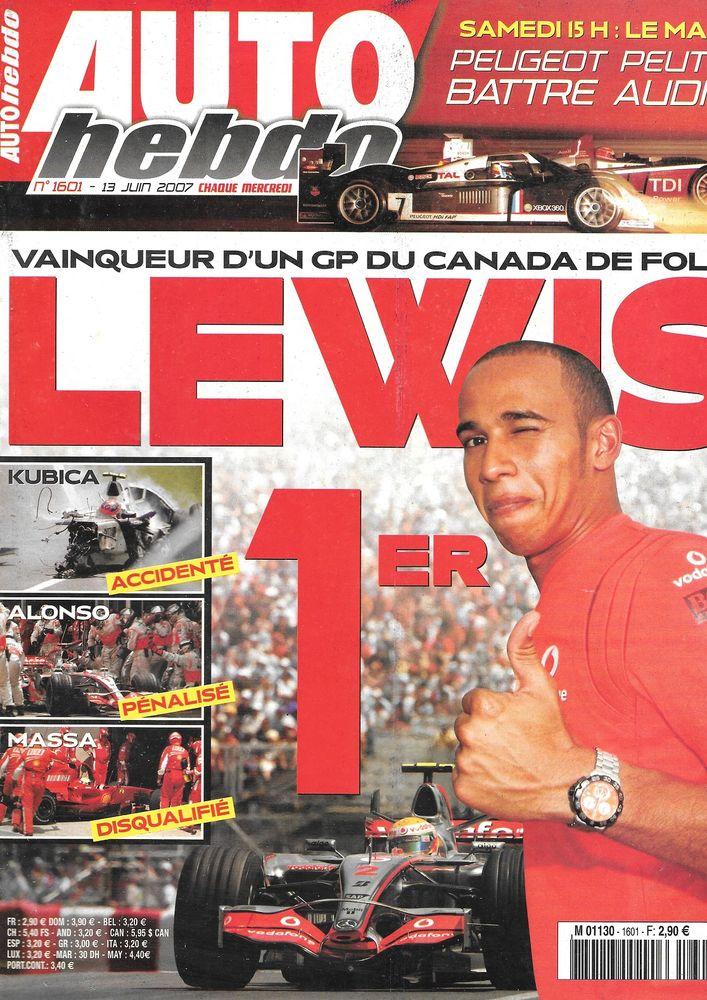 AUTO HEBDO n°1601 2007 MERCEDES CLK 63 AMG GP du Canada Livres et BD