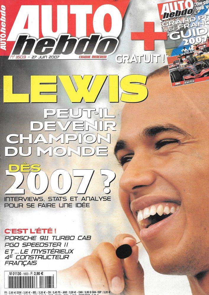 AUTO HEBDO n°1603 2007 PORSCHE 911 Turbo Cabriolet GP France Livres et BD
