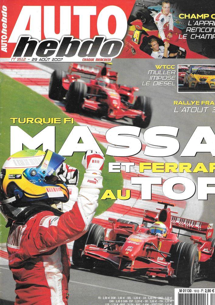 AUTO HEBDO n°1612 2007 JAGUAR XF GP de Turquie Livres et BD