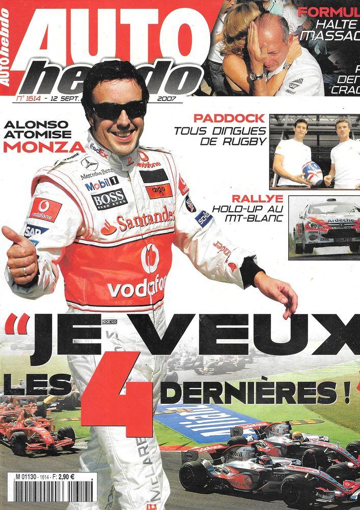 AUTO HEBDO n°1614 2007 GP d'Italie Rallye du Mont Blanc Livres et BD