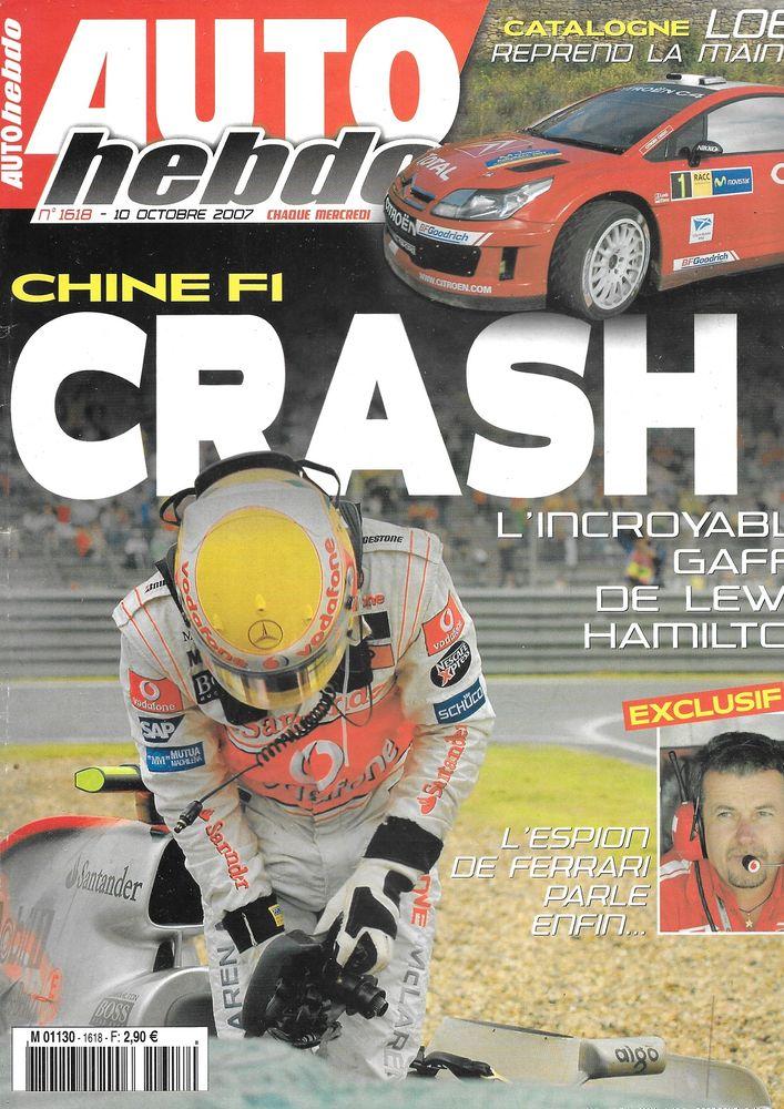 AUTO HEBDO n°1618 2007 FIAT Grande Punto Abarth GP de Chine Livres et BD